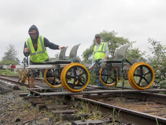 After riding 6 miles, the Oregon Coast Railriders are