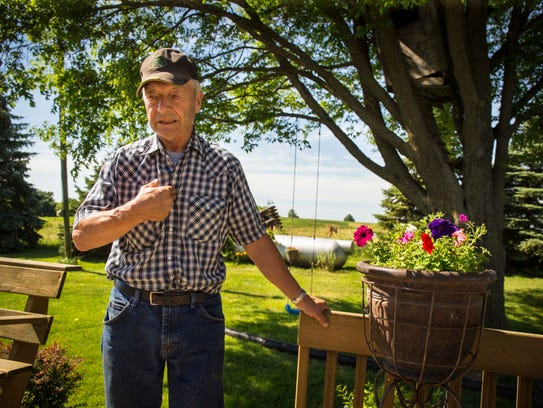 Farmer Bill Carter at his home in rural Lacona, Iowa,