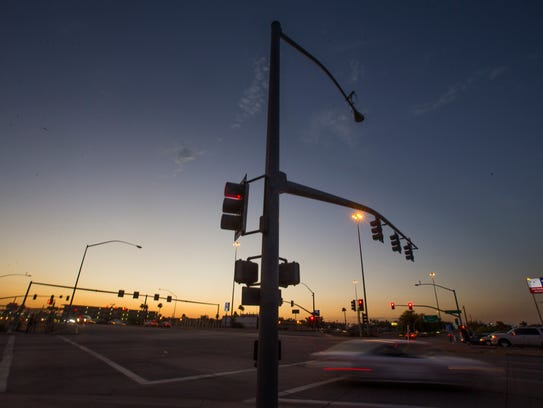 The intersection of 19th Avenue and Camelback on June
