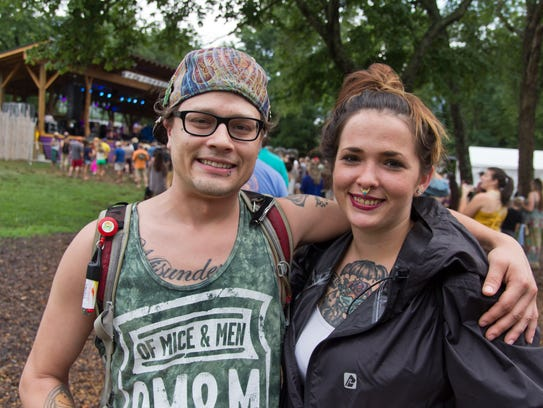 Scenes from Pisgah Brewing Company's outdoor stage