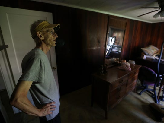 Daniel Godfrey, a 20-year resident of Panacea, looks