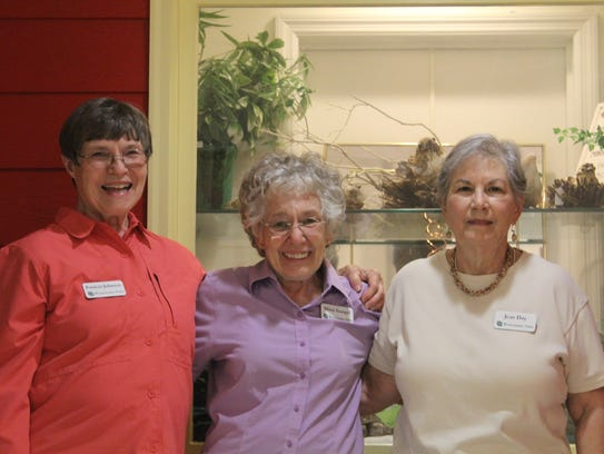 Pat Johnson with Mimi Stangel, middle, and Jean Day,