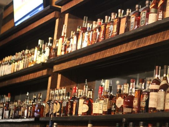 The MSL Whiskey House features over 150 different types