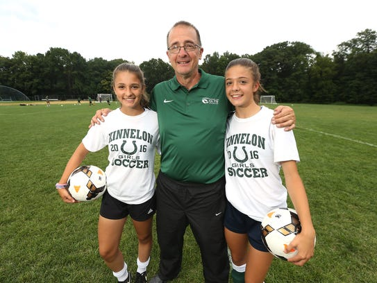 Kinnelon girls soccer head coach Steve Racine and his