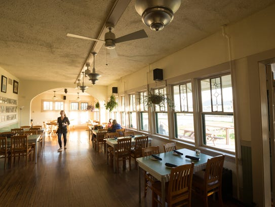 The walnut burger is a favorite at the Historic Trempealeau