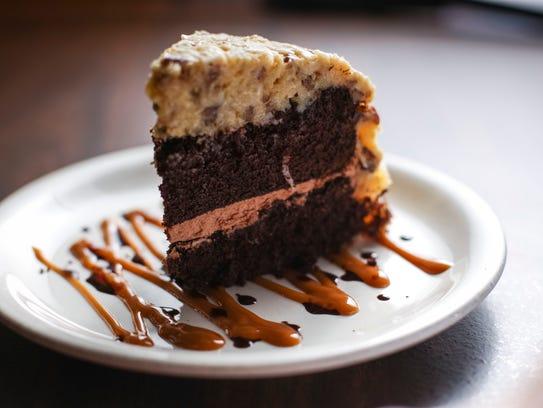 German chocolate cake at Harvey's Diner & Pub (formally