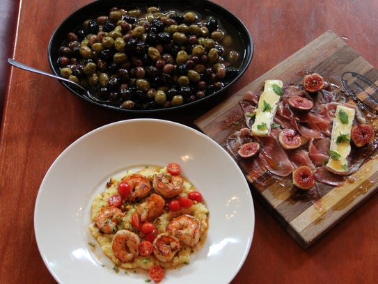 A variety of small plates, or tapas, are available