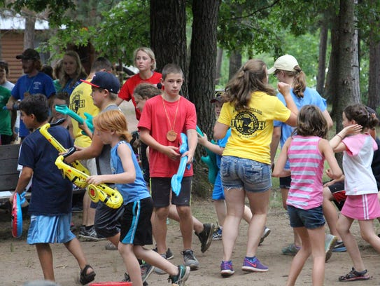 Members rock out during 4-H camp.
