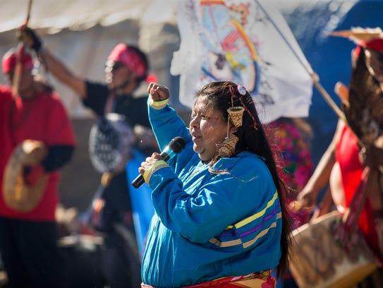 Jahmisa Manakaja, 35, of the Havasupai Tribe from the