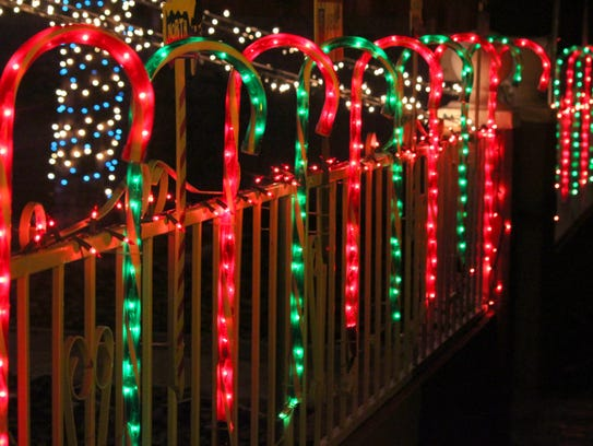 Homes along the Kiwanis Christmas Light Parade route