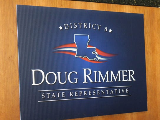 The sign for Douglas Rimmer, who is running for the