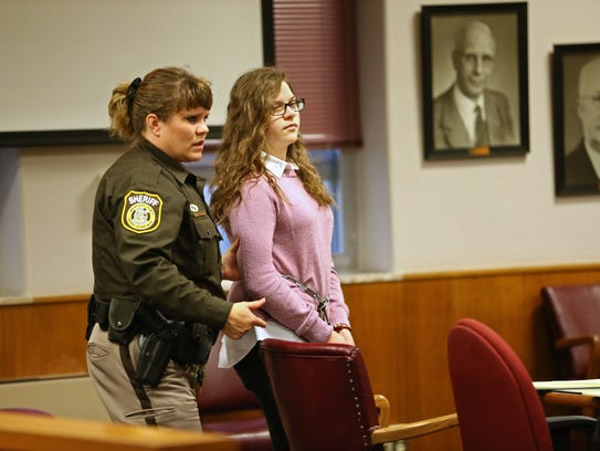 Anissa Weier is led into court Thursday for a hearing.