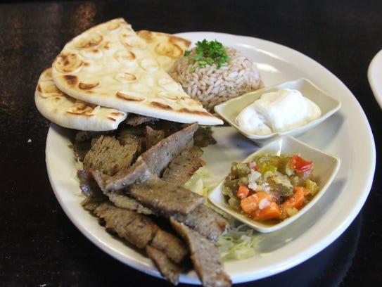 Gyro Plate at Mediterranean Grill in Clarksville.