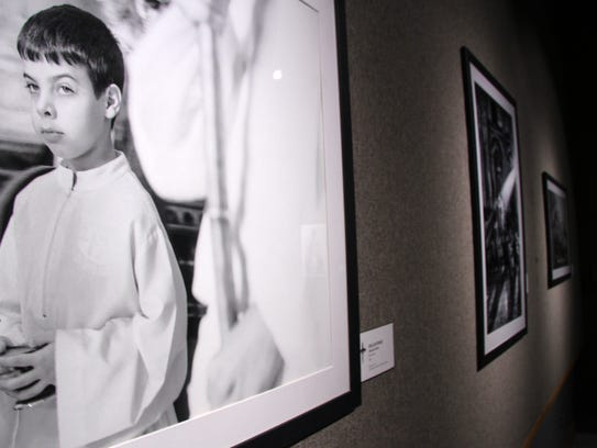 Shoemaker's presentation complemented a photo exhibit