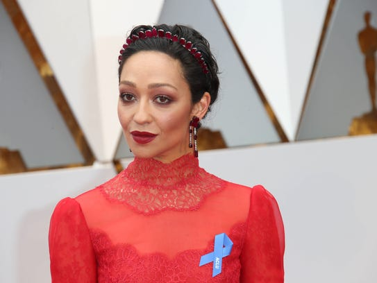 Ruth Negga on the red carpet during the 89th Academy