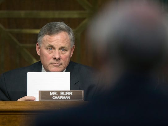 Senate Intelligence Chairman Richard Burr listens to