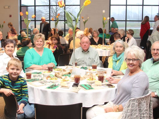Family and friends at the Irish Banquet and Auction