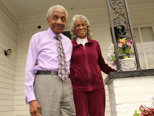 The Rev. F.D. Reese and his wife, Alline, relax on