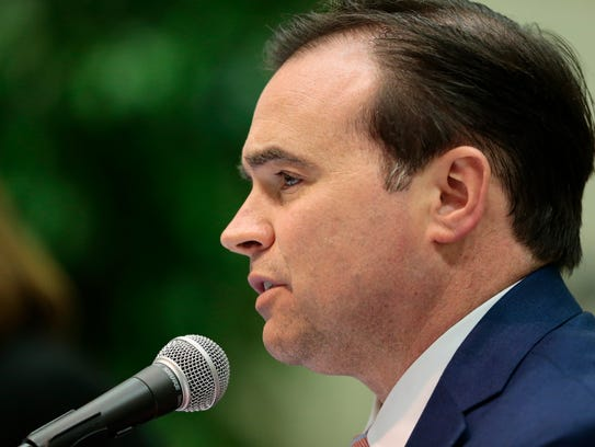 Mayor John Cranley responds to a question during the