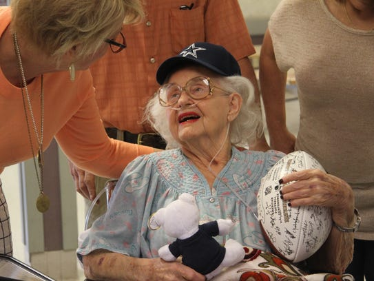 Marie Dansby, who will celebrate her 95th birthday