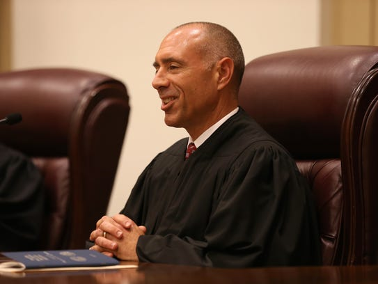 New Supreme Court Justice C. Alan Lawson on his first