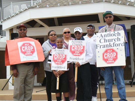 A group from Antioch Church in Frankford participates