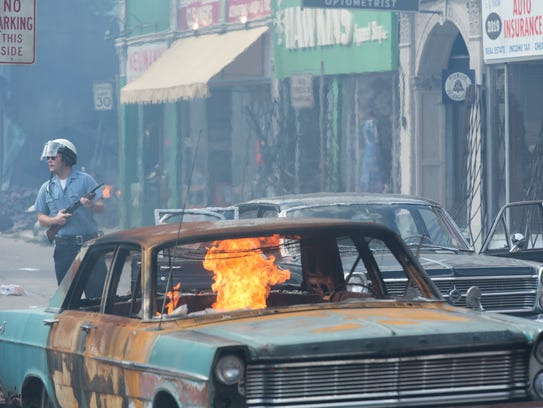 """An image from """"Detroit,"""" a film about the 1967 Detroit"""