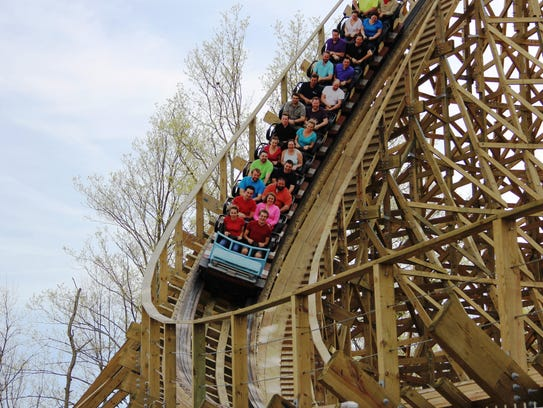 The new Mystic Timbers in 3,265 feet in length. It