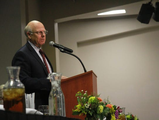 U.S. Rep. Steve Pearce addresses the audience.