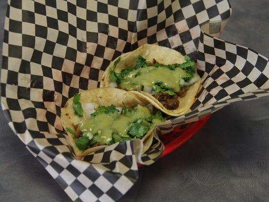 Asada tacos at The Tasty Cafe in North Salem arrive