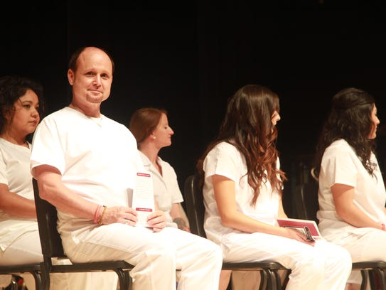 Graduate Todd Housewright was the only male nursing