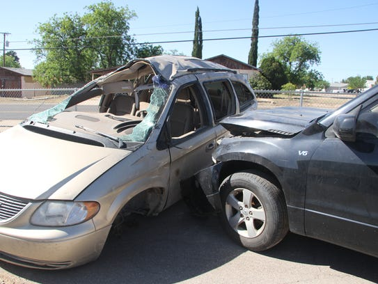 The scene included a two-car crash, beer bottles sprawled
