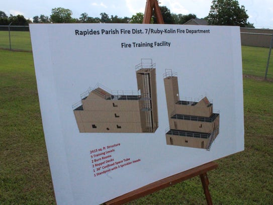 Officials broke ground Wednesday for a new fire training