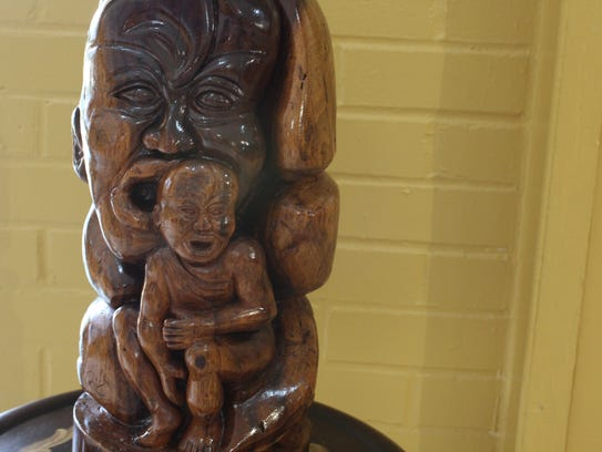 """Echo of a Scream."" One carving by Rickey Lee, a master"