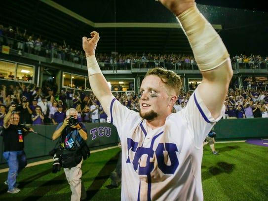TCU catcher Evan Skoug