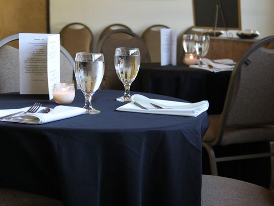 Tables are set to welcome members of The Club, a private