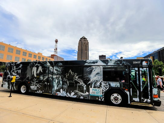 DART unveiled the 2017 Art Bus during the Des Moines