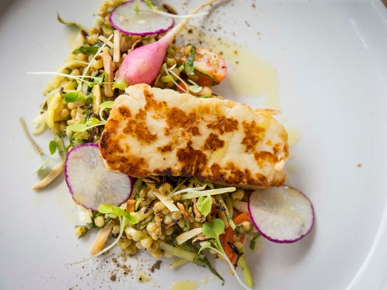 Sorghum and Seared Haloumi at Proof, 1301 Locust St,