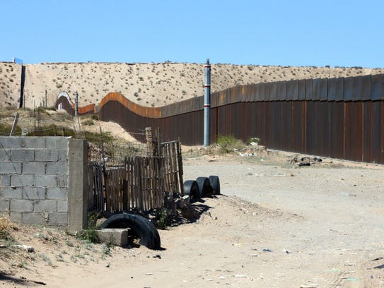 This border fence, seen here from the Mexican side