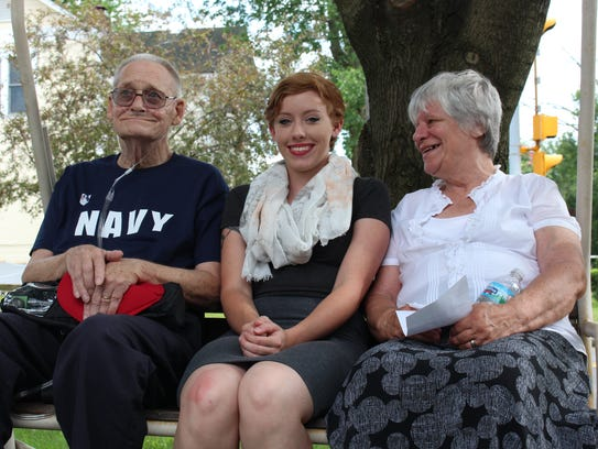New Washington Navy veteran Mike Jaynes poses with