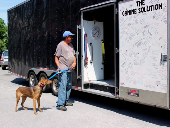 Monroe County Animal Shelter volunteer Tom Forehand