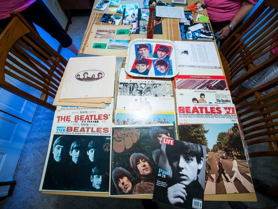 Collections of Beatles albums and memorabilia by Patti