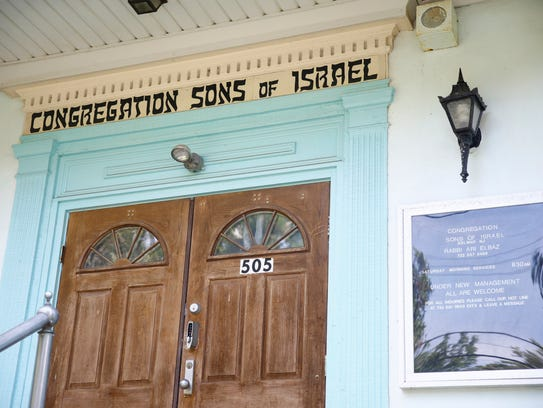 Exterior of Congregation Sons of Israel is shown Friday,