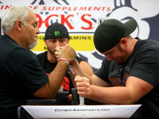 Rodo Rodriguez (left) competes with Jeremy Reyes in