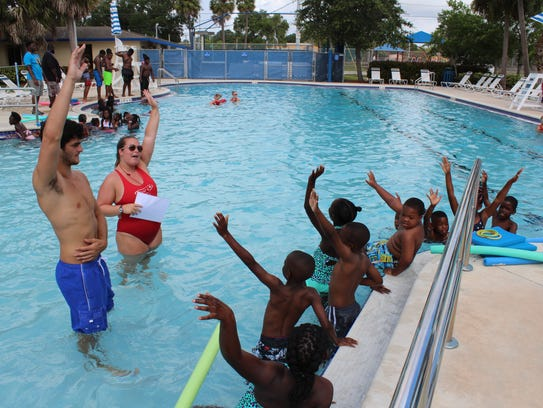 Swimming lessons are offered at all three county pools.
