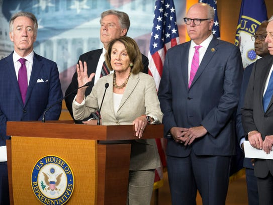 epa06114835 House Minority Leader Democrat Nancy Pelosi