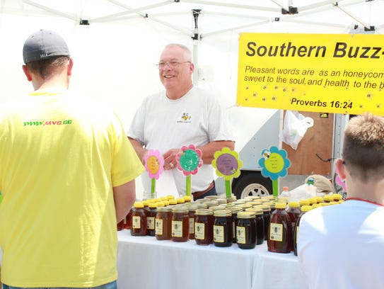Locally harvested honey is the star of the show at