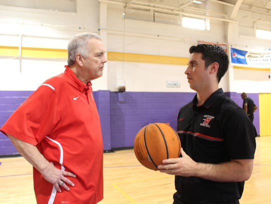 Huntingdon College basketball coaches Buzz Phillips,