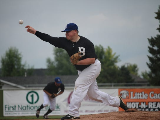 Sioux Falls Brewers pitcher Bryce Ahrendt