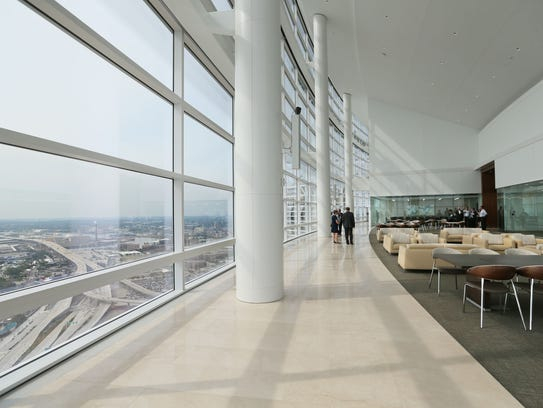 The top floor of the new 32-story Northwestern Mutual